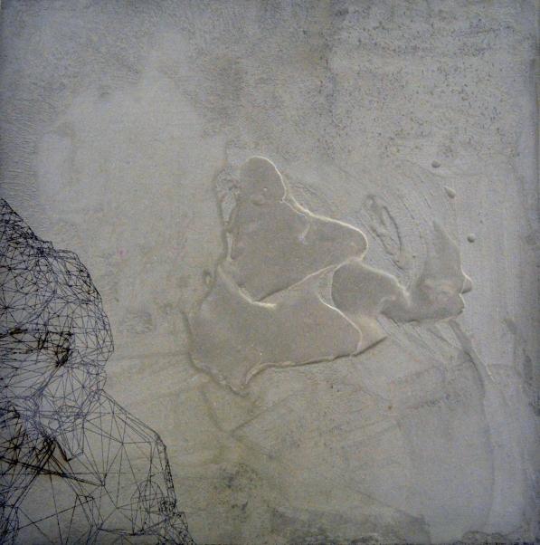 Marco Mendeni, landscape, 70x70cm_digtal processing on concrete, 2014